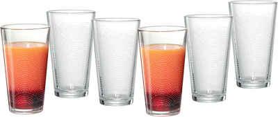 Ritzenhoff & Breker Longdrinkglas »Happy, Rainbows«, Glas, 400 ml, 6-teilig
