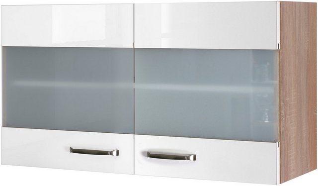 Flex-Well Exclusiv Hängeschrank Valero 100 cm x 55 cm Hochglanz Weiß