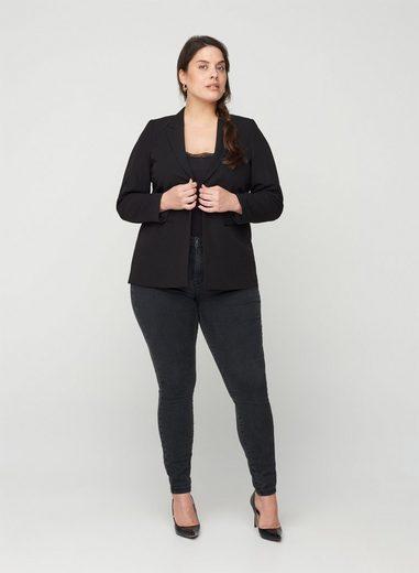 Zizzi Kurzblazer Damen Große Größen Blazer Klassisch Anzug Business Jacke