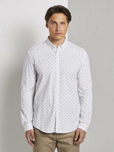 TOM TAILOR Denim Langarmhemd »Gemustertes Hemd«