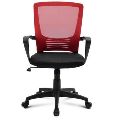 Flieks Drehstuhl »Komfort« (1 Packung), Mesh Computertischstuhl mit Rückenlehne, drehbarer Schreibtischstuhl mit Höhenverstellung, Armlehne und ergonomischer Tailestütze