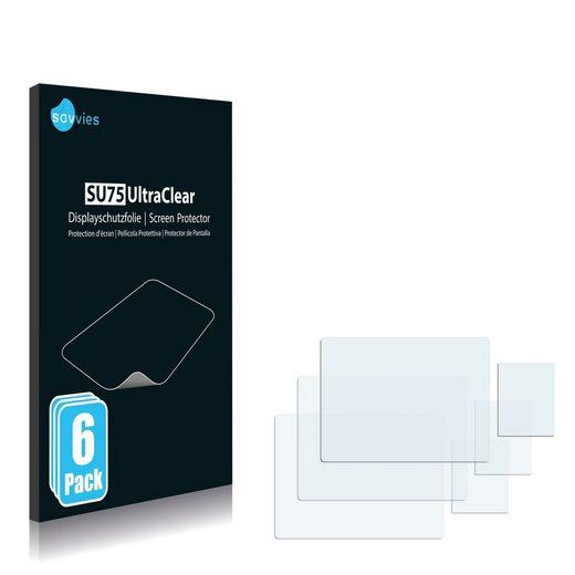 Savvies Schutzfolie »für Samsung DV300F«, (6 Stück), Folie Schutzfolie klar