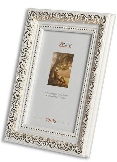 Victor (Zenith) Bilderrahmen »Rubens«, 10x15 cm, in weiss gold, Leiste: 30x20m, Barock, Echtglas, antiker Bilderrahmen
