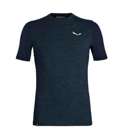 Salewa Funktionsshirt »SALEWA Pedroc Hybrid 2 Dry Shortsleeve T-Shirt komfortables Herren Trainings-Shirt fürs Homeworkout Lauf-Shirt Navy«