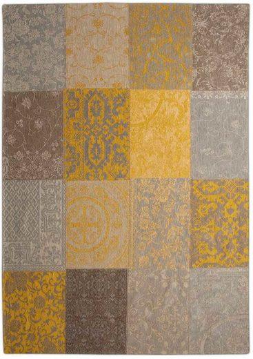 Teppich »MULTI 8084 YELLOW«, louis de poortere, rechteckig, Höhe 3 mm, Patchwork Motiv, Wohnzimmer