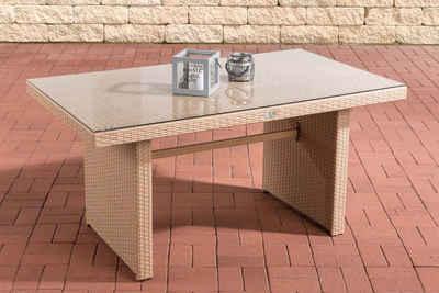 CLP Gartentisch »Tisch Fisolo ca. 140 x 80 cm«, mit einer Tischplatte aus Glas