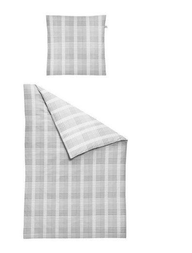 Bettwäsche »Maple Silber«, Irisette, hochwertige Mako Satin Qualität