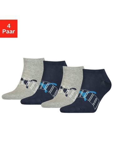 PUMA Sneakersocken (4-Paar) mit trendigem Markenlogo