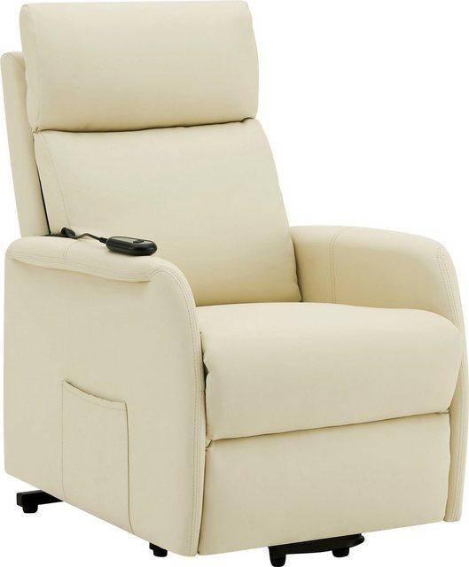 DELAVITA Relaxsessel »Berit«  mit einer praktischen elektrischen Relaxfunktion  Sitz- und Liegeposition möglich  in zwei pflegeleichten Bezugsqualitäten erhältlich  Sitzhöhe 47 cm   Wohnzimmer > Sessel   DELAVITA