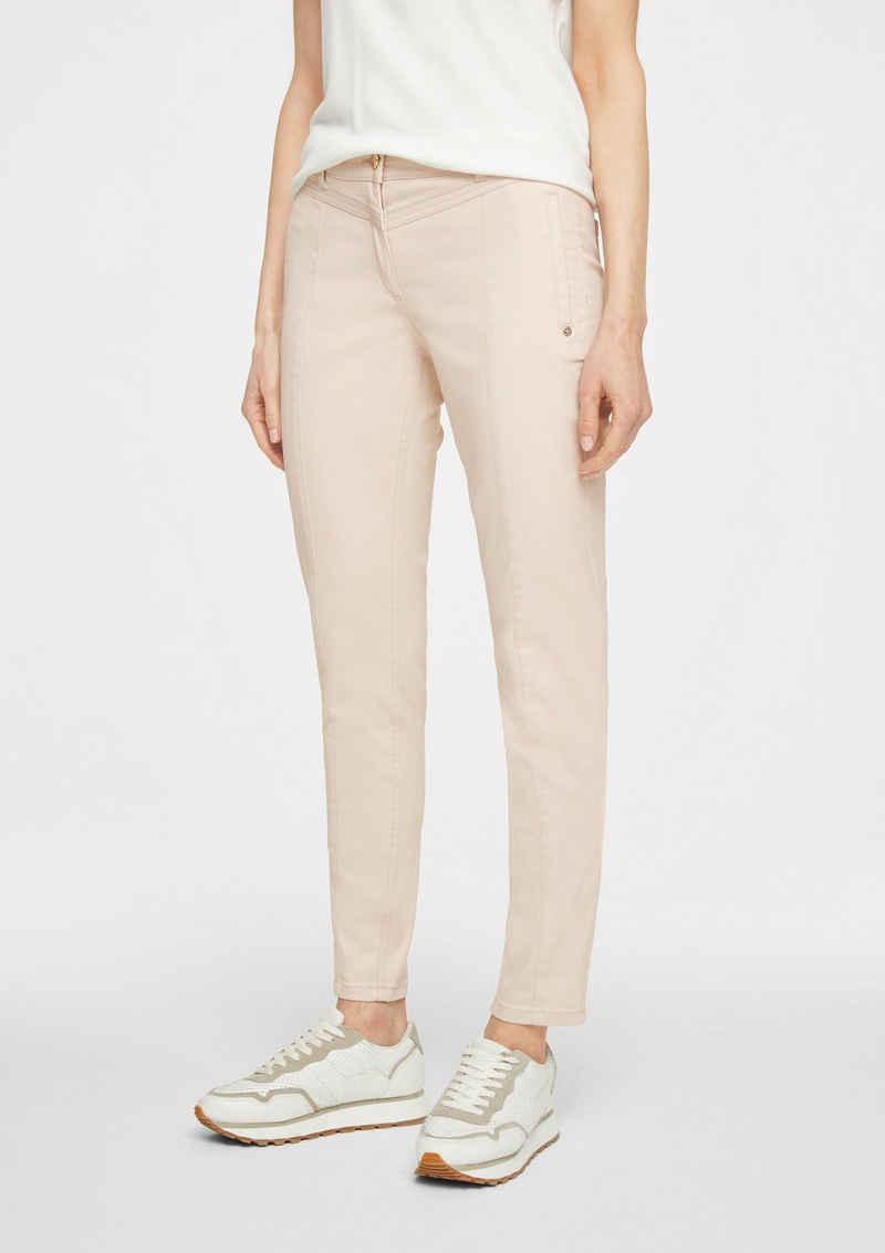 Comma 5-Pocket-Jeans »Skinny Fit: Beschichtete Jeans« Ziernaht