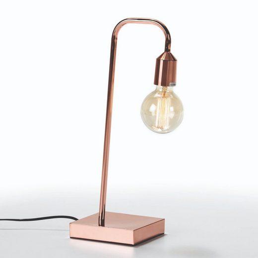 Cosy Home Ideas Schreibtischlampe »Schreibtischlampe kupferfarbig modernes Design Lampe glänzend«, Lampe in Kupferlook minimalistisch