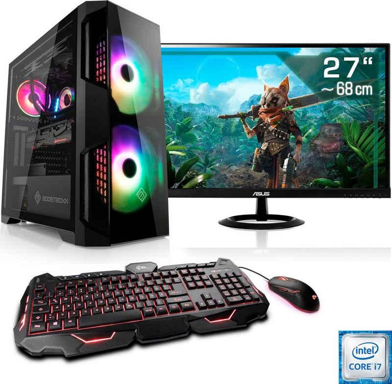 """CSL HydroX T9786 Gaming-PC-Komplettsystem (27"""", Intel Core i7, GTX 1650, 16 GB RAM, 1000 GB HDD, 512 GB SSD)"""