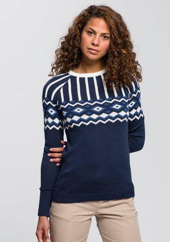 AJC Raštuotas megztinis su Norwegermuster ...