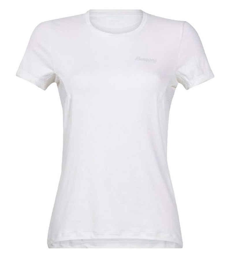 Bergans Kurzarmshirt »Bergans Fløyen Wool Freizeit-Shirt elastisches Damen Sommer-Shirt Touren-Shirt Outdoor-Teil Wollweiß«