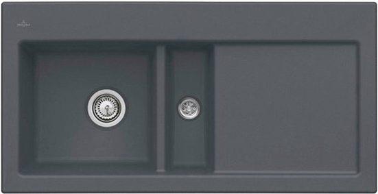 Villeroy & Boch Küchenspüle »Subway 60«, rechteckig, aus Keramik, inkl. Ablaufgarnitur mit Handbetätigung, 1000 x 510 mm