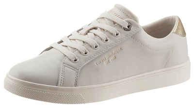 Tommy Hilfiger »TH ICON CUPSOLE SNEAKER« Sneaker mit schimmernden Kontrastbesatz