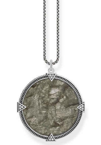 THOMAS SABO Kette mit Anhänger »Coin, KE1997-462-5-L50v«, mit Labradorit, Zirkonia (synth)