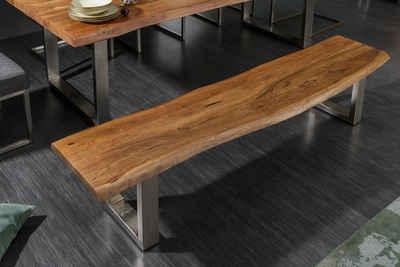 riess-ambiente Sitzbank »MAMMUT NATURE 160cm natur«, mit Baumkante aus Massivholz