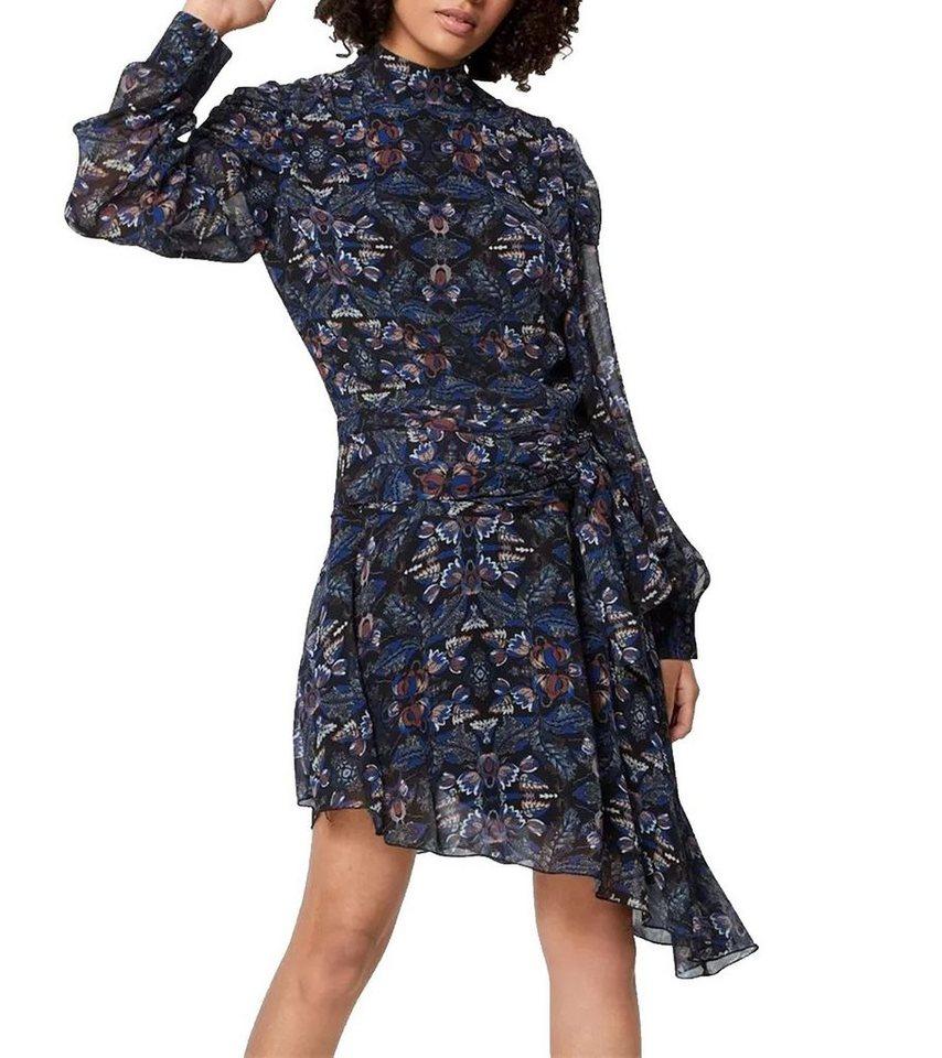Postyr Minikleid »POSTYR Posviola Mini Kleid schönes Damen Langarm Kleid  Sommer Kleid mit floralem Allovermuster Schwarz/Blau« online kaufen   OTTO