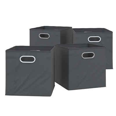 Vicco Faltbox »4er Set 30x30 cm anthrazit Faltkiste Aufbewahrungsbox Regalbox«