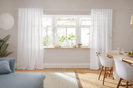 Vorhang »Lanea«, LeGer Home by Lena Gercke, Multifunktionsband (1 Stück), Leinen,halbtransparent