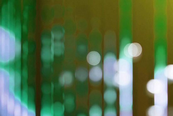 living walls Fototapete »Walls by Patel Big City Lights 2«, glatt, (4 St)