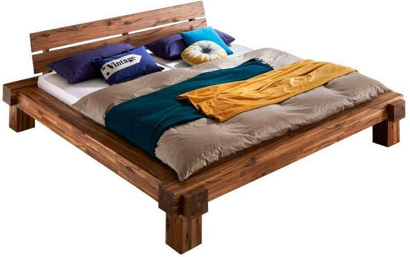 SAM® Holzbett »Nancy«, Balkenbett aus massiver Akazie 140 cm