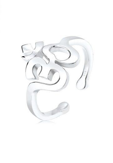 Elli Fingerring »Om Kraftsymbol Talisman 925 Sterling Silber«, Om
