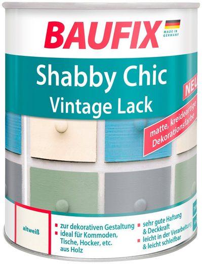 BAUFIX Acryl Buntlack »Shabby Chic«, Antik Lack, altweiß, 750 ml