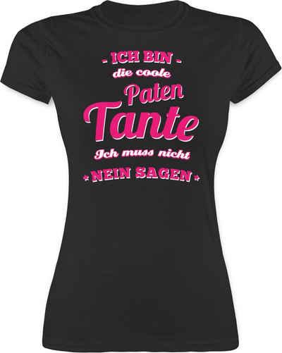 Shirtracer T-Shirt »Ich bin die coole Patentante - Schwester und Tante Geschenk - Damen Premium T-Shirt« Familie Geschenke