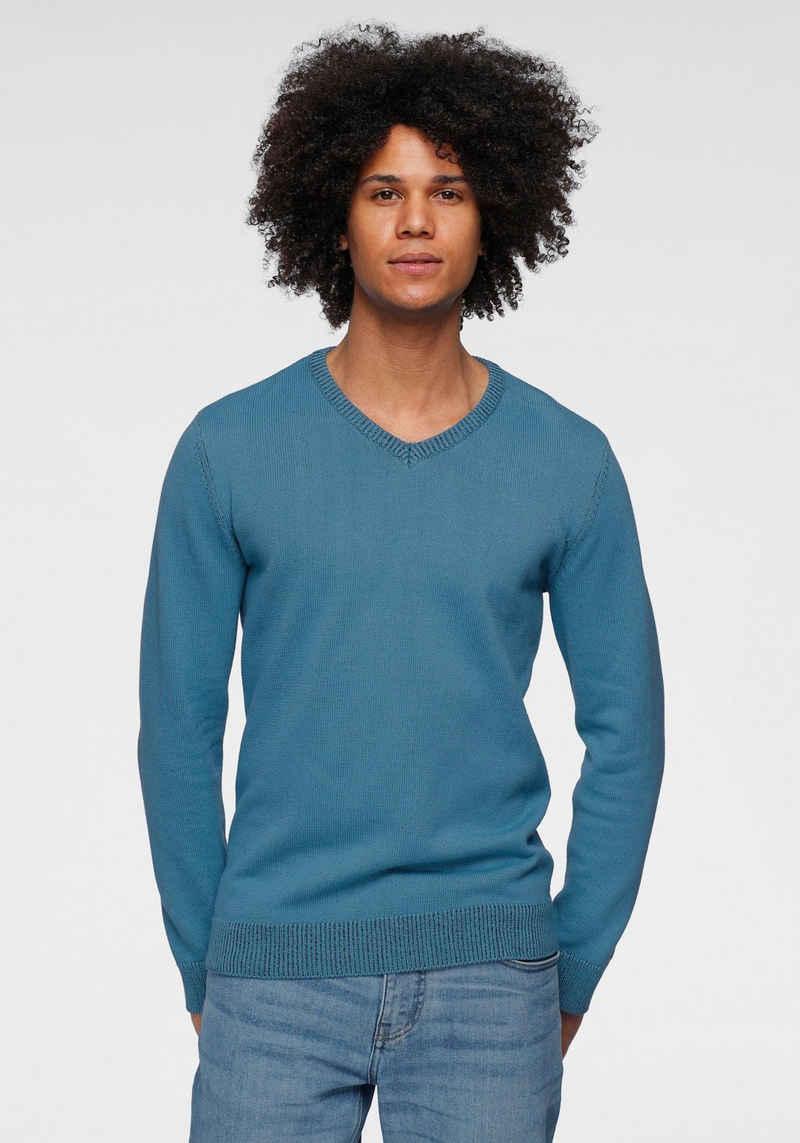 OTTO products V-Ausschnitt-Pullover »GOTS zertifiziert – nachhaltig aus Bio-Baumwolle«