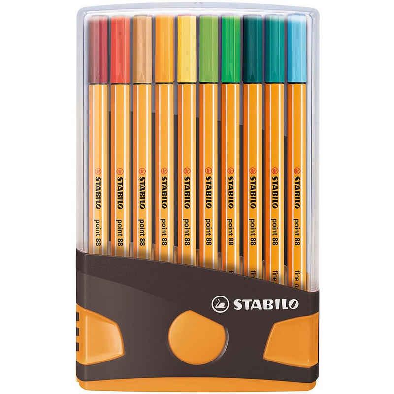 STABILO Fineliner »Fineliner point 88, 20 Farben im Color Parade«