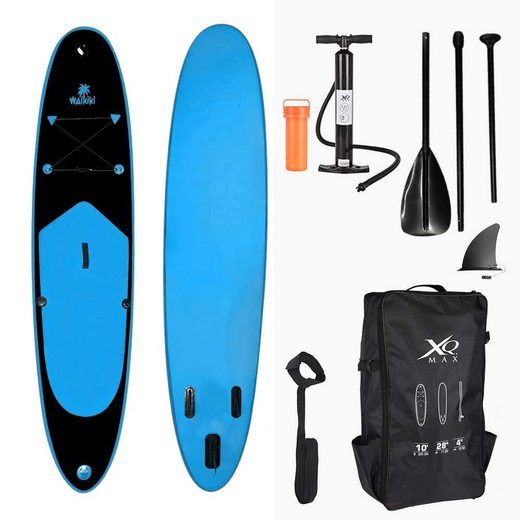 made2trade Inflatable SUP-Board »285cm - WAIKIKI BLAU«, komplettes Set mit Pumpe, Flickwerkzeug, Fußleine und verstellbares Paddel