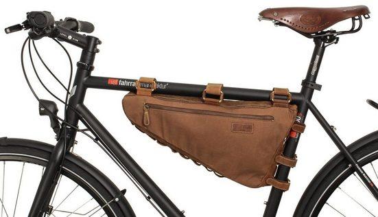 Gusti Leder Rahmentasche »Jan U.«, Fahrradtasche Radtasche Fahrrad Braun