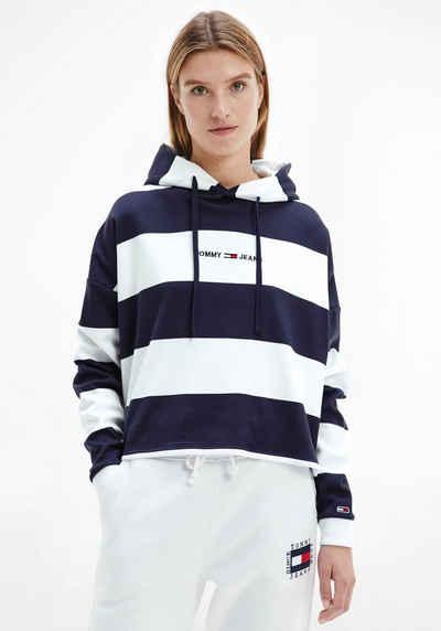 Tommy Jeans Kapuzensweatshirt »TJW BXY LINEAR STRIPE HOODIE« im Colorblocking Streifen & Tommy Jeans Logo-Schriftzug