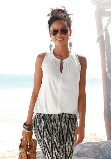 LASCANA Strandtop mit Zieraccessoire