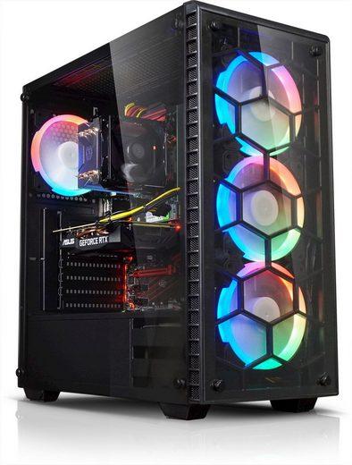 Kiebel Gaming-PC (AMD Ryzen 7, RX 580, 16 GB RAM, 1000 GB HDD, 500 GB SSD, Luftkühlung)
