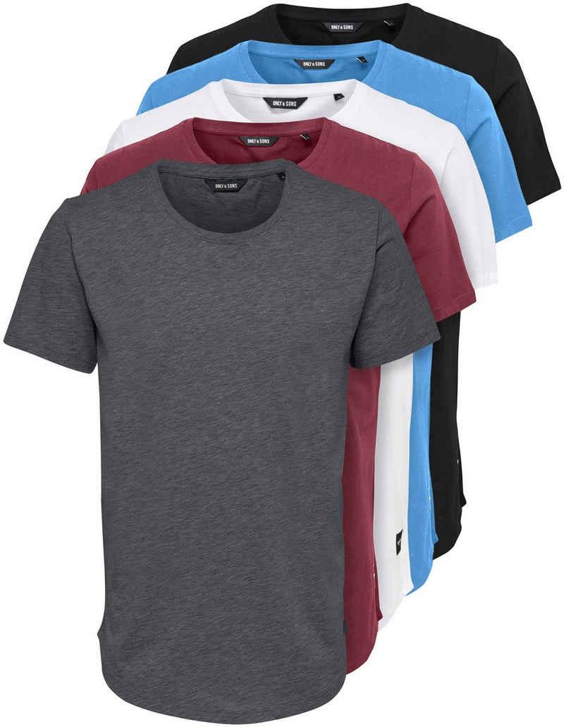 ONLY & SONS T-Shirt »MATT LIFE LONGY SS TEE 5-PACK« (Packung, 5-tlg., 5er-Pack)