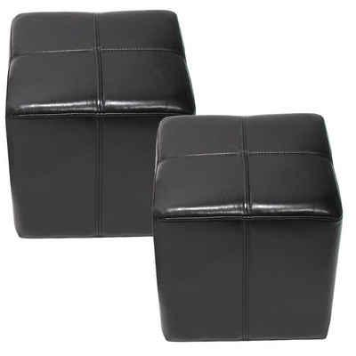 MCW Sitzwürfel »Carrara-2« (Set, 2er), Praktisch, Fertig Montiert, Belastbarkeit ca. 150 kg