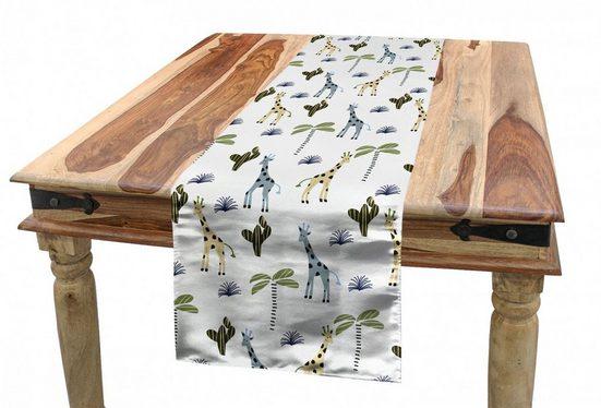 Abakuhaus Tischläufer »Esszimmer Küche Rechteckiger Dekorativer Tischläufer«, Cactus Print Dschungel Giraffes Plants