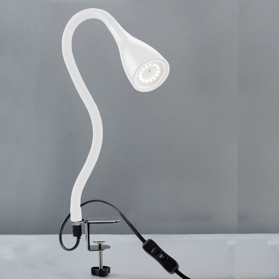 LED Klemm-Leuchte Tischleuchte Schreibtisch Büroleuchte Nachttisch-Lampe DE