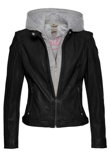 AJC Lederjacke in cooler Lagen-Biker-Optik