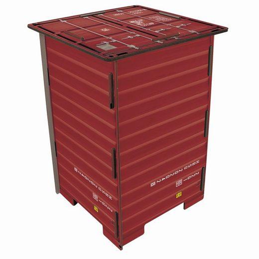 """WERKHAUS® Hocker »Werkhaus - Photo - Hocker """"Container"""" Rot Stuhl Sitz Sitzmöble Tisch (CO1042)«"""