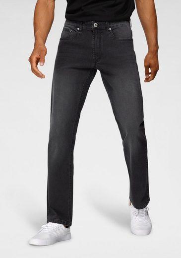John Devin Straight-Jeans mit leichter Waschung