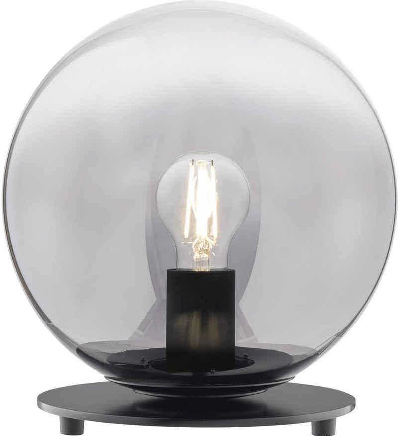 SCHÖNER WOHNEN-Kollektion Tischleuchte »Mirror«, Tischlampe Rauchglas Ø 25 cm