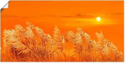 Artland Wandbild »Im Wind«, Gräser (1 Stück), in vielen Größen & Produktarten -Leinwandbild, Poster, Wandaufkleber / Wandtattoo auch für Badezimmer geeignet