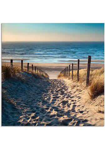 Artland Stiklinis paveikslas »Weg zum Nordsees...