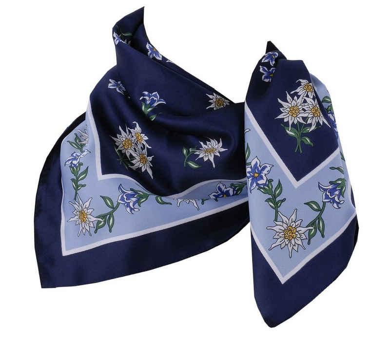 Moschen-Bayern Halstuch »Trachtenhalstuch Trachtentuch Halstuch Edelweiß Trachten Damen Herren Nickituch Edelweißtuch«, besonders anschmiegsam - kratzfrei