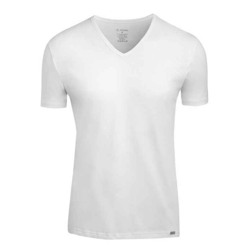 Jockey Unterhemd »Modern Stretch«, Shirt mit V-Ausschnitt - Bequemer Tragekomfort, T-Shirt mit V-Ausschnitt, Metall-Logo am Saum