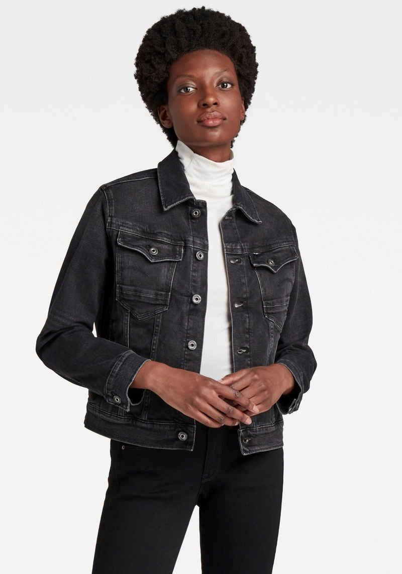 G-Star RAW Jeansjacke »Arc 3D Jacket« Western-Brusttaschen mit Ösenknöpfen